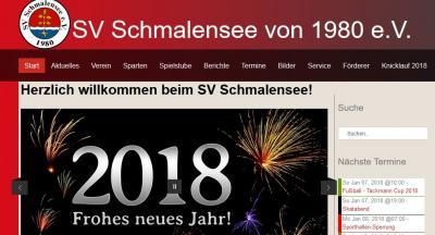 Foto zur Meldung: Stark nachgefragt: Homepage des SV Schmalensee mit über 15.000 Besuchern – jährlich