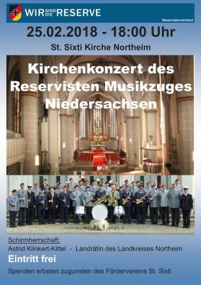 Vorschaubild zur Meldung: 25.02.2018 um 18 Uhr > Benefizkonzert des Reservisten-Musikzugs Niedersachsen in der St. Sixti-Kirche