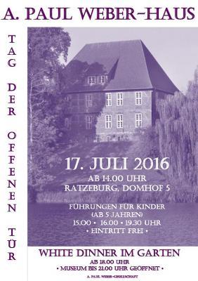 Vorschaubild zur Meldung: Die A. Paul Weber-Gesellschaft  lädt  zum White Dinner und  Tag  der offenen Tür.