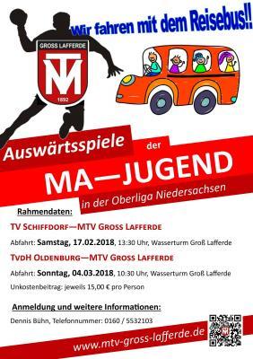 Vorschaubild zur Meldung: MA-Oberliga: Fahrt im Reisebus mit nach Schiffdorf und Oldenburg