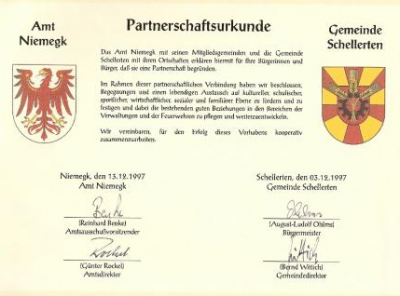 Foto zur Meldung: Jubiläumsveranstaltung 20 Jahre Partnerschaft mit der Gemeinde Schellerten