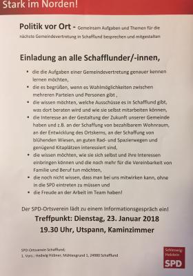Foto zur Meldung: SPD lädt ein