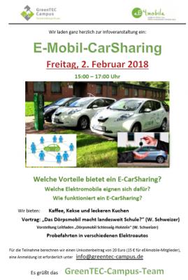 Foto zur Meldung: Informationsveranstaltung Probefahrens von E-Fahrzeugen