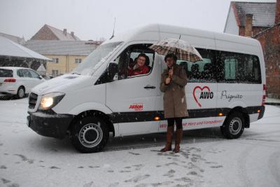 Vorschaubild zur Meldung: Fahrzeugübergabe AWO Wohngemeinschaft mit ambulantem Pflegebedarf in Wittenberge