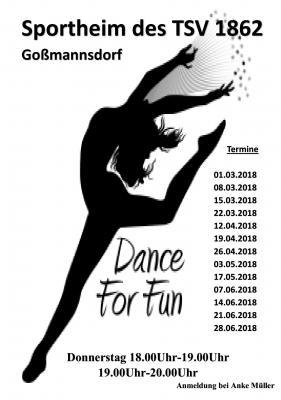 """Vorschaubild zur Meldung: Neue Termine für """"Dance for fun"""" beim TSV"""