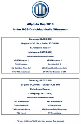 Foto zur Meldung: E-Junioren: Allphida Cup 2018