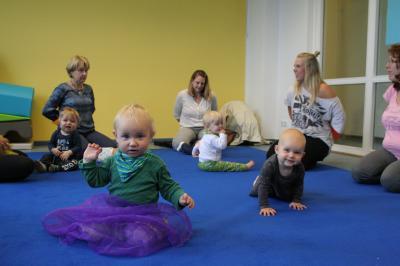 Babymusik im FGZ erfreut sich größter Beliebtheit bei den Kleinen und deren Eltern.