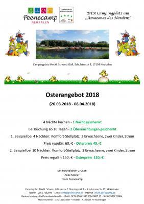 Foto zur Meldung: Peenecamp - Osterangebot 2018
