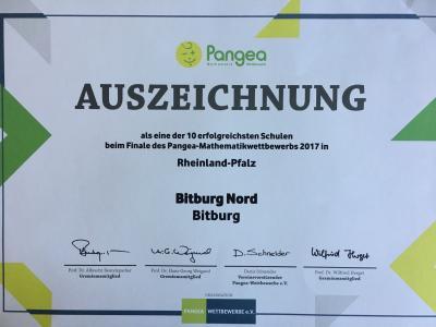 Vorschaubild zur Meldung: Erfolg beim Pangea-Wettbewerb