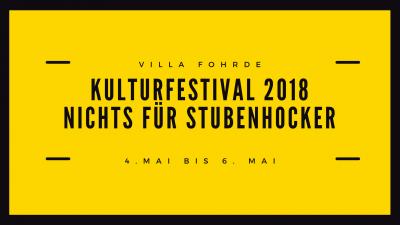 Foto zur Meldung: Kulturfestival - Nichts für Stubenhocker