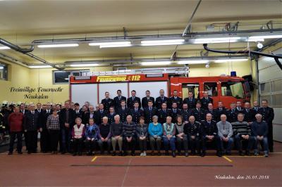 Foto zur Meldung: Jahreshauptversammlung der FFw 2018