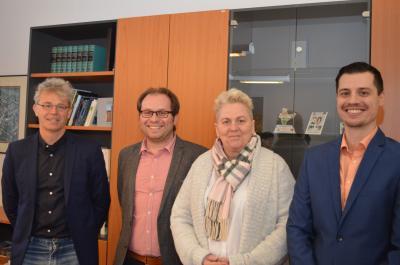 Dr. Bert Lehmann, Manuel Meger, Martina Bork und Christian Elke (v. l.)