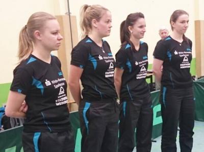 Die Damenmannschaft in Chemnitz (v.l.n.r.): Laura Hofmann, Marie Rost, Annika Fischer, Anja Pohl