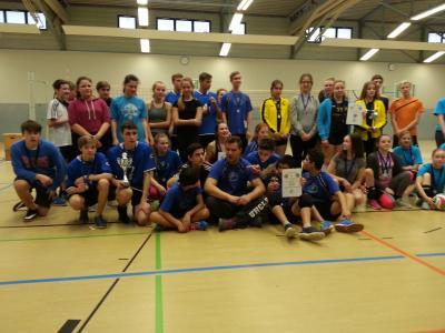 Vorschaubild zur Meldung: Turniersieg beim Volleyball in Bergen
