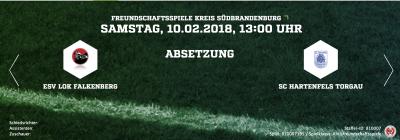 Foto zur Meldung: Fußball: Testspiel gegen Torgau fällt aus