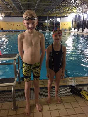 Die beiden jüngsten MTV-Schwimmer in Alfeld: Franziska Billeb und Jakob Ehgart, beide Jahrgang 2009