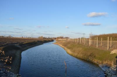 Neuer Entwässerungsgraben in Nauen-West (Am Mahlbusen).