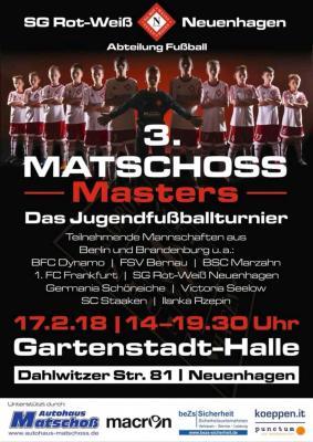 Plakat zu den Matschoss-Masters