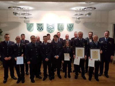 Die Kameraden der Grasleber Feuerwehr