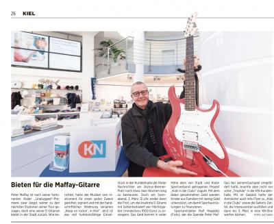 Vorschaubild zur Meldung: Versteigerung einer Gitarre mit Signatur von Peter Maffay
