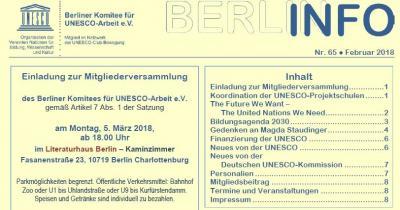 Vorschaubild zur Meldung: BERLIN INFO Nr. 65 erschienen