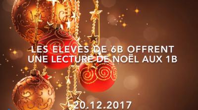 Vorschaubild zur Meldung: Classes 6b et 1b - Lectures de contes de Noël