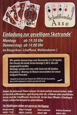 """Foto zur Meldung: Skatclub """"Schafflunder Asse"""""""
