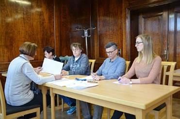 Sitzung des Kreiswahlausschusses unter Leitung von Kreiswahlleiterin Petra Borchel. (Foto: Landkreis)