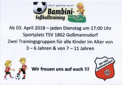 Vorschaubild zur Meldung: Neus TSV-Angebot!  - Bambini-Fußballtraining -