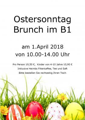 Vorschaubild zur Meldung: Osterbrunch Sonntag im B1 Sport & Freizeit