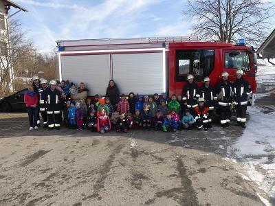 Foto zur Meldung: Brandschutzübung im Kindergarten