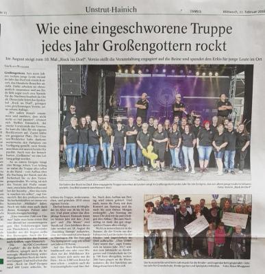 """Vorschaubild zur Meldung: 10 Jahre """"Rock im Dorf"""" in Großengottern"""