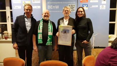 vlnr. Burghard Massante, Hans-Jörg Kohlenberg, Manfred Görg, Verena Michalek