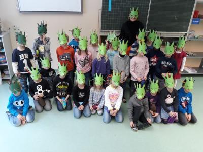 Foto zur Meldung: Lesetag: Die Olchis gehen in die Schule