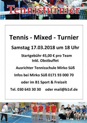 Vorschaubild zur Meldung: Tennis-Mixed-Turnier