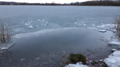 Bewachsene Uferbereiche bergen bei Eis besondere Gefahren, Foto: privat