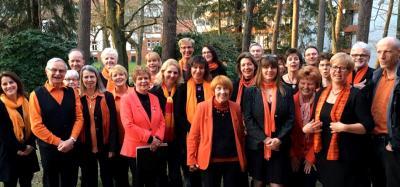 """Foto zur Meldung: Gospelkonzert mit """"Flaming Voices"""" wegen Minusgraden im Gemeindesaal"""