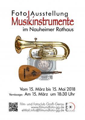 """Vorschaubild zur Meldung: Eröffnung der Fotoausstellung """"Musikinstrumente"""""""