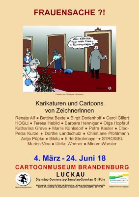 Foto zur Meldung: Frauensache ?! - Karikaturen und Cartoons von Zeichnerinnen