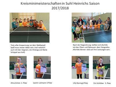 Kreisminimeisterschaften in Suhl Heinrichs Saison 2017/2018