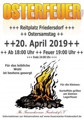 Foto zur Meldung: Osterfeuer am 20. April 2019 auf dem Reitplatz