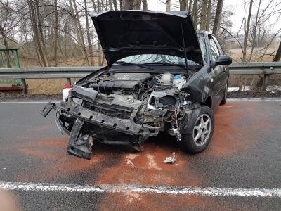 Foto zur Meldung: Vehrkehrsunfall B167 OA Falkenberg - Papierfabrik
