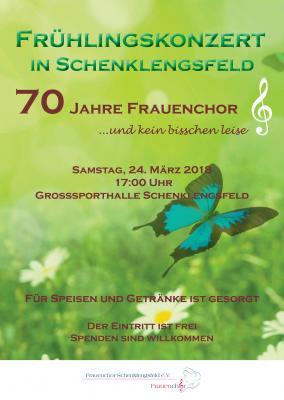 Vorschaubild zur Meldung: Konzert 70 Jahre  Frauenchor in der Großsporthalle Schenklengsfeld