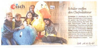Foto zur Meldung: Zisch - Zu Besuch bei der SVZ in Schwerin