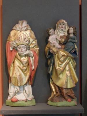 Dionysius und Anna Selbdritt vom Altar aus Klein Lüben
