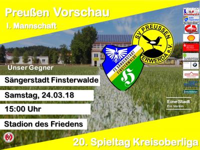 Vorschaubild zur Meldung: +++ 20. Spieltag Kreisoberliga +++