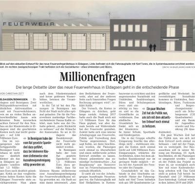 Foto zur Meldung: Das neue Gerätehaus für Eldagsen