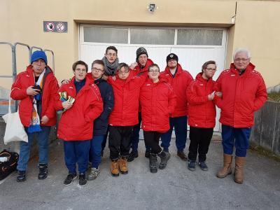 Foto zur Meldung: Integrativgruppe SV Großschönach-Lautenbach war beim Hallenturnier in Wilhelmsdorf erfolgreich