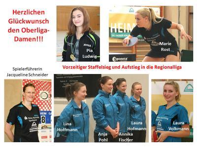 Herzlichen Glückwunsch der 1.Damenmannschaft zum vorzeitigen Aufstieg in die Regionalliga