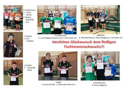 Schwarzaer Medaillengewinner bei den diesjährigen Kreisranglisten